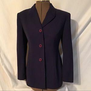 Petite Sophisticatie Purple blazer jacket size 2